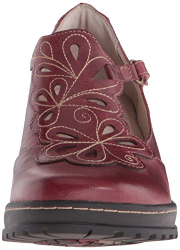 Jambu Waywood Synthétique Talons Deep Red