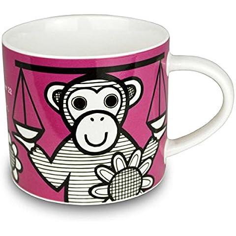 Jane Foster–Taza de porcelana china del zodiaco–Libra Signo taza. Caja de Regalo