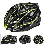 Six Foxes Fahrradhelm, Leichtgewicht Damen Herren Fahrradhelm Fahrrad Helm, Unisex Erwachsenen Specialized Rennradhelm mit 26 Belüftungsöffnungen, MTB Helm Fahrrad gr 55-63 (Gelbgrün)