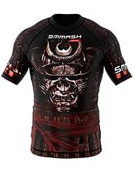 Rashguard SMMASH SAMURAI manga corta MMA BJJ UFC S M L XL XXL XXXL (L)