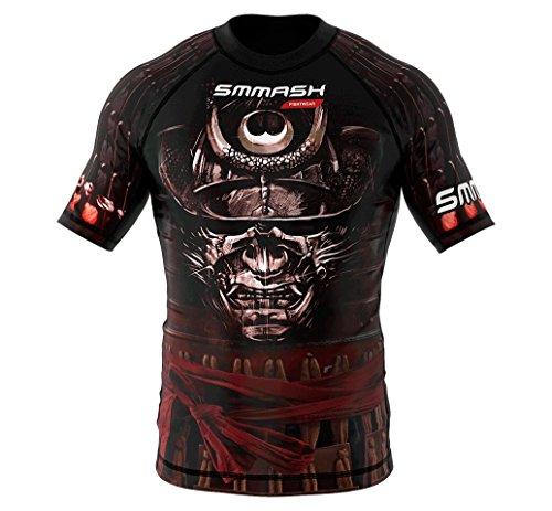 SMMASH Rashguard SAMURAI Kurzarm XS S M L XL XXL XXXL MMA BJJ UFC Kampfsport (L)