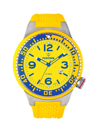 Kienzle K2031159203-00267 - Orologio da polso uomo, silicone, colore: giallo
