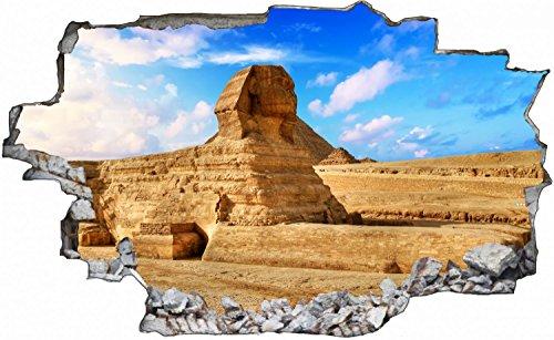 Große Sphinx (Große Sphinx von Gizeh in Ägypten Wandtattoo Wandsticker Wandaufkleber C0542 Größe 40 cm x 60 cm)