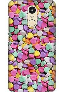 Amez designer printed 3d premium high quality back case cover for Xiaomi Redmi Note 4 (Love Candies)
