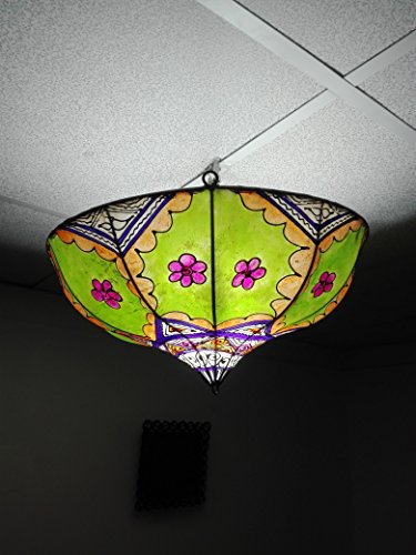 Lámpara marroquí lámpara lámpara farol Piel Hierro Henne Oriental Hippie étnico chic 1132