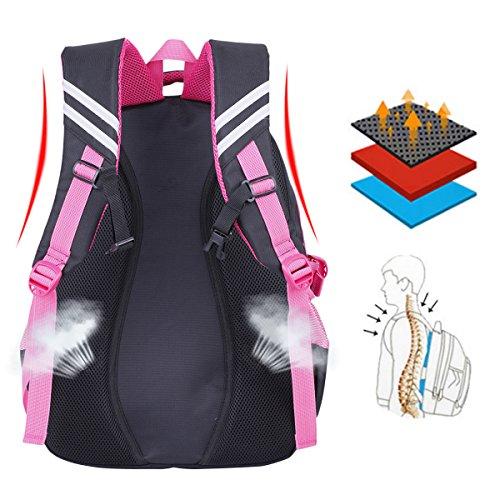 Schulrucksack, Coofit Kinderrucksack Daypack Schultasche Grundschule Backpack Schulranzen für Mädchen Jungen Teenager Jugendliche - 7