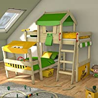 WICKEY Twin Bed Crazy Trunky Bunk Bed Children