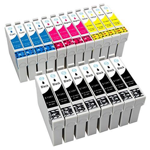 ESMOnline kompatible 20 Druckerpatronen als Ersatz zu Epson T128x E128x für Epson Stylus Office BX305FW Plus BX305FW BX305F Stylus SX445W SX440W SX435W SX420W SX235W SX130 SX125 S22 (T128x) (20er Set)