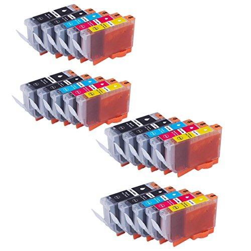 Preisvergleich Produktbild Kompatible Tintenpatronen Ersatz für Canon PGI 5BK CLI 8BK PGI-5BK PGI-8BK CLI-5 CLI-8 PGI5BK CLI8BK Tintenpatronen Hohe Kapazität kompatibel für Canon PIXMA iP3300 iP4200 iP4300 iP4500 iP5200, iP5200R iP5300 iX4000 iX5000 MP500 MP510 MP530 MP600 MP600R MP800 MP800R MP810 MP830 MP950 MP960 Tintenpatronen für Inkjet Drucker (4 Grossen Schwarz, 4 Klein Schwarz, 4 Cyan, 4 Magenta, 4 Gelb)