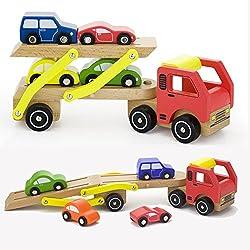Vortigern - #V51036 - Camión de Transporte en Madera con Cuatro Coches
