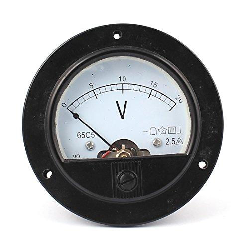 sourcingmap® DC 0-20V Rund Simulation Paneel Meter Strom Stromspannung Messer Voltmeter (Runde Dial Meter)