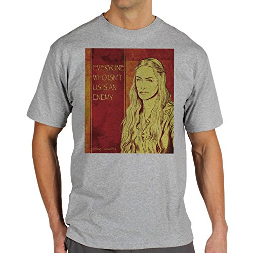 Cersei Lannister Quotes Game Of Thrones Everyone Who IsnÕt Us Is An Enemy Herren T-Shirt Grau