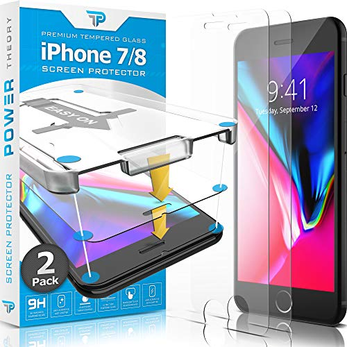 Power Theory Panzerglasfolie kompatibel mit iPhone 7/8 (2 Stück) - Japanische 9H Panzerglas Folie, HD Displayschutzfolie/Panzerfolie, Tempered Glas Schutzglas, Schutzfolie Screen Protector Glass (Hd-iphone 5 Screen Protector)