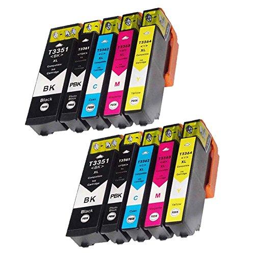 Teng Cartucce d'inchiostro Epson 33 33XL compatibili con Epson Expression Premium XP-540 XP-7100 XP-530 XP-640 XP-635 XP-630 XP-645 XP-830 XP-900-2Nero, 2 Photo Black, 2 Ciano, 2 Magenta, 2 Giallo
