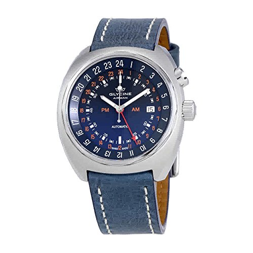 GLYCINE AIRMAN STT 12Automatic Blue Dial Men' s Watch 3903.188.lb8b