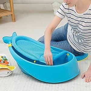 Skip Hop Moby Smart Sling 3-Stage Baby Bath Tub, Blue