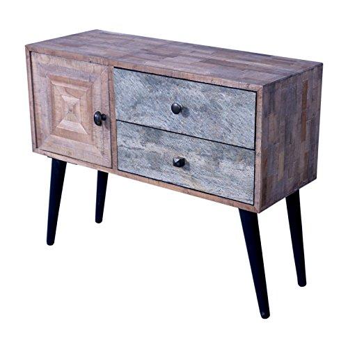 The Wood Times Kommode Schrank Massiv Vintage Look Kean Teak, BxHxT 81x66x31 cm