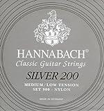 Hannabach Serie 900 Silber 200 - Cuerda de guitarra (tensión media-baja)