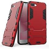 "Asus Zenfone 4 Max Plus ZC554KL Hülle, SsHhUu Stoßsichere Dual Layer Hybrid Tasche Schutzhülle mit Ständer für Asus Zenfone 4 Max Plus ZC554KL (5.5"") Rot"