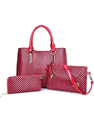 X&L Otoño invierno de mujer diamante simple Joker bandolera -conjunto padre-hijo paquete bolsa , rose red