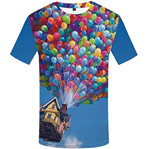 Herren Kurzarm T-Shirt 3D Gedruckt Slim Fit Tops Pullover Bluse Weiche Mode Lässig Outdoor Sports,T-Shirt Bär Tier Rundhals Herren Druck Kurzarm Farbe8 XXXL -