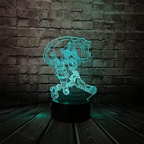 KangYD Lámpara escoba de dibujos animados Witcher 3D, LED Multicolor Night Light,...