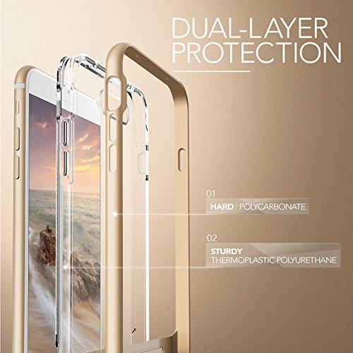 Coque iPhone 7 Plus, VRS Design [Crystal Bumper][Argent] - [Transparent étui][Housse de Protection][Kickstand][Anti Scratch Case][Anti Chocs][Military Grade] Pour Apple iPhone 7 Plus Or