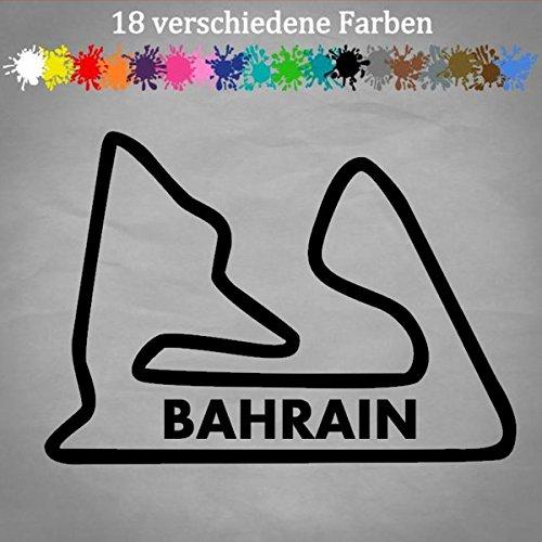Bahrain Rennstrecke Aufkleber 17x12cm Formel 1 Tack Layout Grand Prix F1 Manama in 18 Farben -