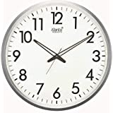 Ajanta Round Plastic Wall Clock (40.5 cm x 40.5 cm x 5 cm, White)