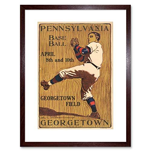 SPORT BASEBALL GEORGETOWN PENNSYLVANIA VINTAGE AD ART PRINT B12X1252 - Vintage-baseball-art