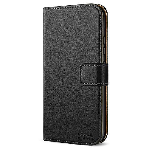 HOOMIL Moto G5S Hülle, Handyhülle Motorola Moto G5S Tasche Premium PU-Leder Flip Case Brieftasche Etui Schutzhülle für Motorola Moto G5S (5,2 Zoll) Cover - Schwarz (H3204)