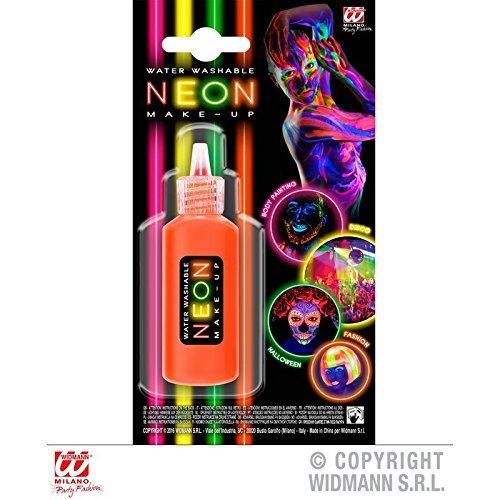(Lively Moments Neonoranges Creme Make - Up in Dosierflasche / 80er Jahre Neonschminke / Faschingsschminke)