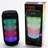 RCE - BT807L (Black) Wireless Bluetooth Speakers Colorful LED's Supports TF Card, USB, FM/Radio, Hands Free Call Function