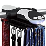 Sterline Automatische Motorisierte Revolving Krawattenhalter Und Gürtel Mit LED-Licht Built-Rack
