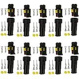 Gazechimp 10 Set Connecteur Prise Terminal Fil Electrique Etanche à 2 Broches