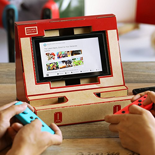 Poconic Cardboard Toy Stand for Nintendo Switch, N-Labo Kit Customization  Cardboard Sheets Arcade Bracket Paper DIY Switch Holder Game Joy-con Garage