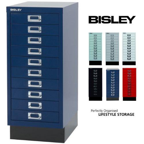 BISLEY Schubladenschrank 29 aus Metall | Schrank mit 10 Schubladen und Sockel | Büroschrank DIN A4 | Werkzeugschrank | Metallschrank in 6 Farben - Nähen Schubladen