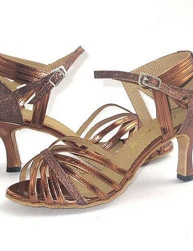 ShangYi Maßgefertigter Absatz - Leder - Latin - Damen Bronze