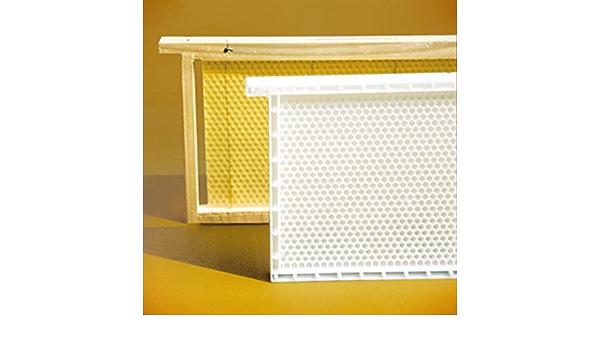 Dadant Blatt Honig-Raum Kunststoffwabe Rähmchen und Mittelwand aus Kunstoff