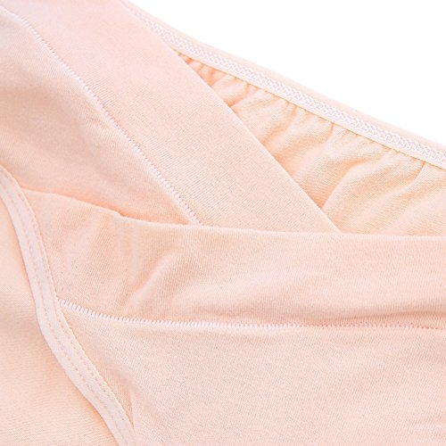 Yalatan Women Cozy Cotton Maternity Panty Lingerie For Pregnant Women Nude