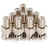 10 x adaptateur connecteur coaxial BNC mâle à RCA femelle fiche jack prise