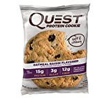 Die besten Quest-Nutrition Protein Riegel - Quest Nutrition Protein Cookie Oatmeal Raisin, 708 g Bewertungen