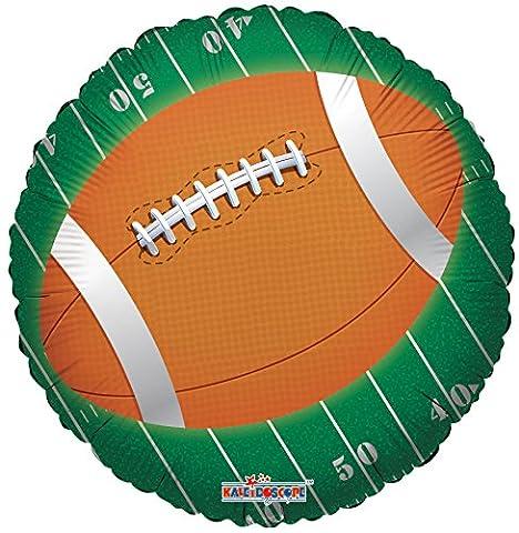 Kaleidoscope Round Football Foil Mylar Balloons, 5 Piece