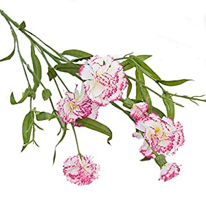 JUNGEN Flores Artificial Clavel de Tela Bouquet Flores Artificiales para Decoración del Hogar Habitación Garden Fiesta…