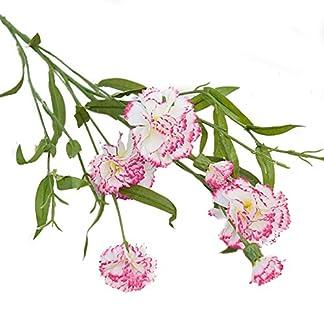 JUNGEN Flores Artificial Clavel de Tela Bouquet Flores Artificiales para Decoración del Hogar Habitación Garden Fiesta Boda (1 Ramo 6 Cabezas)