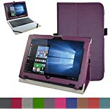 "Acer One 10 S1002 Funda,Mama Mouth Slim PU Cuero Con Soporte Funda Caso Case para 10.1"" Acer Aspire One 10 S1002 S1002-122V S1002-124H NT.G5CEB.001 S1002-17WT Tablet PC,Púrpura"