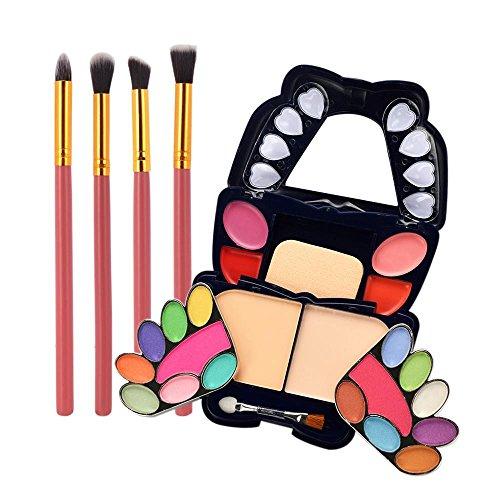 ESAILQ 2018 Newest Design Papillon de Smokey Ombre Fards à Paupières maquillage Correcteur Contour Palette + 4Pcs pinceau de maquillage (C)