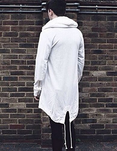 Fanessy Neu Herbst Winter Herren Freizeit Jacke Kapuze Mantel Slim Fit Langarm Baumwolle Casual Reißverschluss Jacke Parka Oberbekleidung mit Multi-Taschen Vergrößern Größe Weiß
