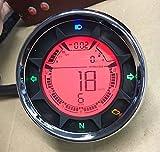 Goldenapplestore-299 kmh 12000 rpm universal Digital LCD Velocímetro Tacómetro Odómetro mph / kmh 1-6 N indicador de marcha para Honda Motocicleta Scooter bicicleta sucia
