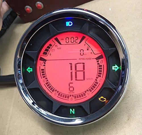Goldenapplestore - 299 km/h LCD digitale 12000 rpm Tachometer Geschwindigkeitsmesser Kilometerzähler Motorrad Roller Scooter Golf Carts ATV